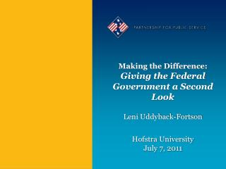 Making the Difference: Giving the Federal Government a Second Look