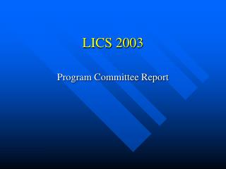 LICS 2003