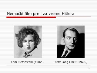 Nemački film  pre i  za vreme Hitlera