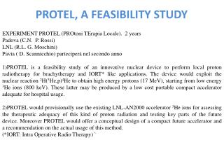 PROTEL, A FEASIBILITY STUDY