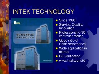 INTEK TECHNOLOGY
