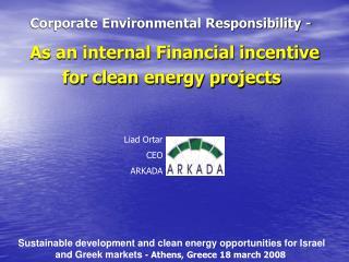 Corporate Environmental Responsibility -