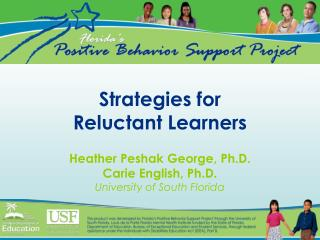 Strategies for Reluctant Learners