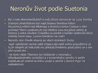 Neronův život podle Suetonia