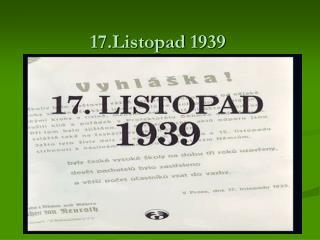 17.Listopad 1939