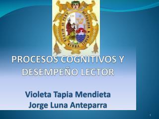 PROCESOS COGNITIVOS Y DESEMPE O LECTOR  Violeta Tapia Mendieta Jorge Luna Anteparra