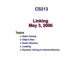 Linking May 3, 2006