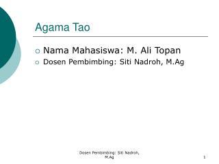 Agama Tao