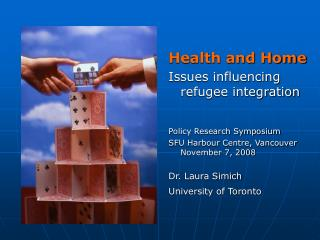 Health and Home Issues influencing refugee integration Policy Research Symposium
