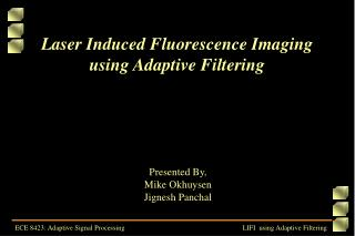 Laser Induced Fluorescence Imaging using Adaptive Filtering
