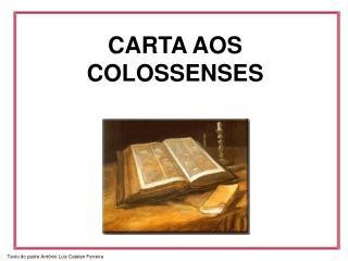 CARTA AOS  COLOSSENSES
