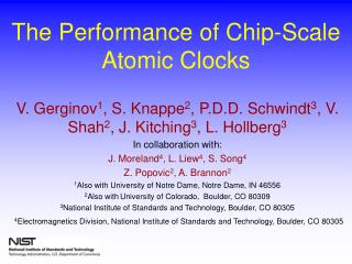 The Performance of Chip-Scale Atomic Clocks
