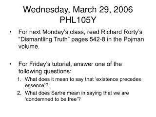 Wednesday, March 29, 2006 PHL105Y
