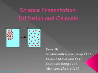 Science Presentation: Diffusion and Osmosis