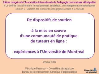 25ème congrès de l'Association Internationale de Pédagogie Universitaire -Montpellier