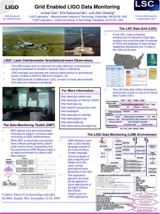 Grid Enabled LIGO Data Monitoring