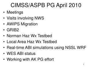 CIMSS/ASPB PG April 2010