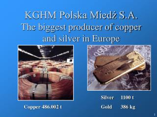 KGHM Polska Miedź S.A. The biggest producer of copper and silver  in Europe