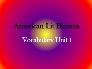 American Lit Honors