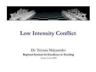 Low Intensity Conflict