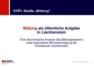 """KOFL Studie """"Bildung"""""""
