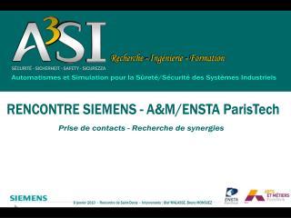 Automatismes et Simulation pour la Sûreté/Sécurité des Systèmes Industriels