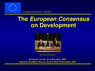 The European Consensus on Development