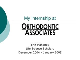 My Internship at