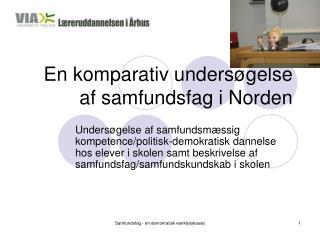 En komparativ undersøgelse af samfundsfag i Norden