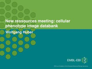 New ressources meeting: cellular phenotype image databank