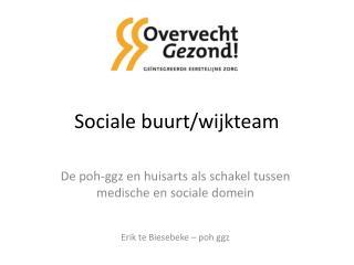 Sociale buurt/wijkteam