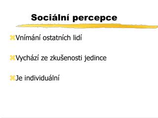 Sociální percepce