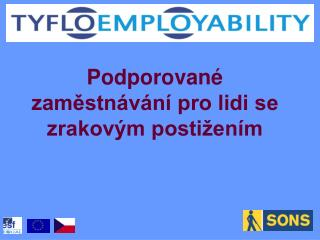 Podporované zaměstnávání pro lidi se zrakovým postižením