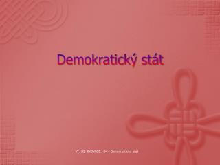 Demokratický stát