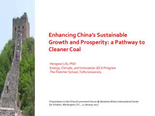 Enhancing China's Sustainable Growth and Prosperity: a Pathway to Cleaner Coal