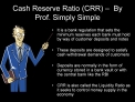 Cash Reserve Ratio CRR    By Prof. Simply Simple