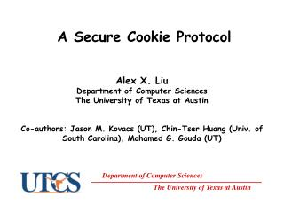 A Secure Cookie Protocol