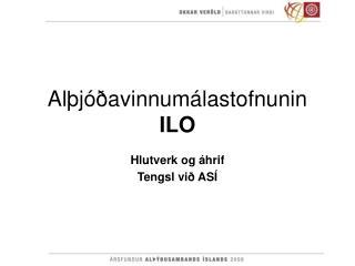 Alþjóðavinnumálastofnunin ILO