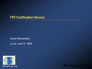 FP5 Certification Service