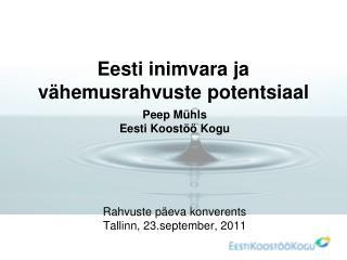 Eesti inimvara ja vähemusrahvuste potentsiaal