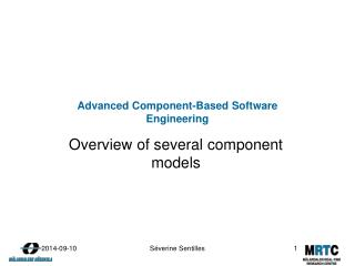 Advanced Component-Based Software Engineering