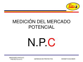 MEDICIÓN DEL MERCADO POTENCIAL