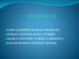 EQUIPO #3