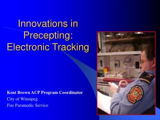 Innovations in Precepting: Electronic Tracking