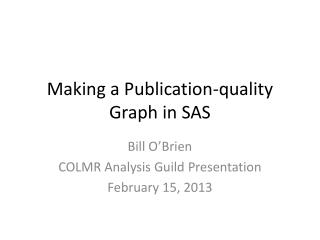 Making a Publication-quality Graph in SAS