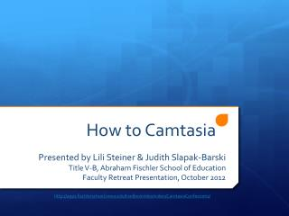 How to  Camtasia