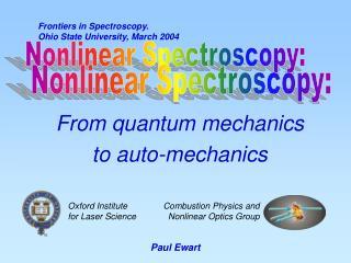 From quantum mechanics  to auto-mechanics