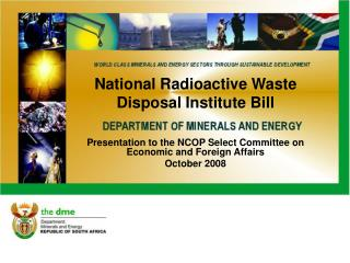 National Radioactive Waste Disposal Institute Bill