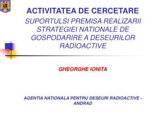 ACTIVITATEA DE CERCETARE