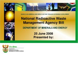National Radioactive Waste Management Agency Bill